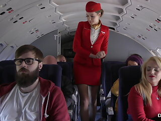 A caring stewardess