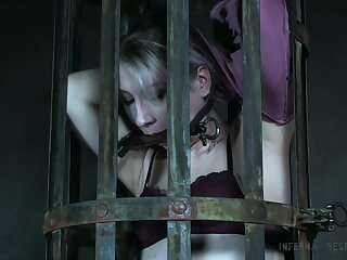 Locked in hammer away cage duteous whore Lex Luthor gets ready for hardcore BDSM