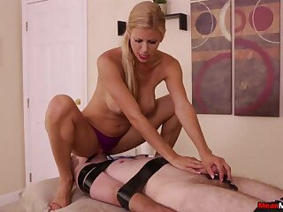 Smashing uncovered porn with a dominant MILF and her lead actor slave