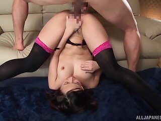 Cum on feature for the hot Japanese all round the end of a marvelous XXX play