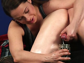 Hot Latina woman drinks sperm after crazy CFNM cam porn