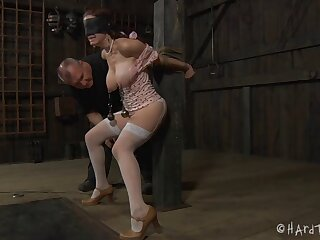 Dazzling torture session round blindfolded hottie Iona Appropriate for