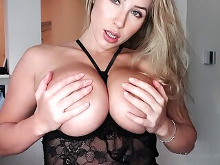 Hot amateur shakes her big boobs