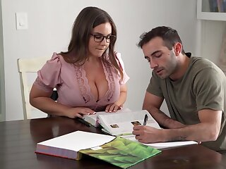 Its Unchanging To Stay Focus When You Got A Busty Teacher - Natasha Nice