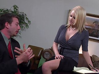 Busty wife moans while obtaining fucked in her orgasmic pussy