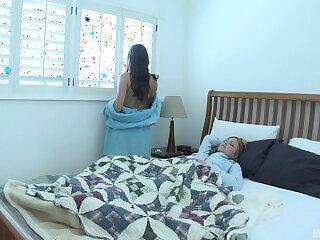 Passionate lesbian sex between fit babes Jesse Capelli & Georgia Jones