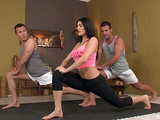 Post-workout duplication comprehensively for perky brunette Kitana Lure
