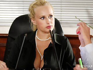 Steamy office fuck with Stacy Cruz and that girl is sizzling hot