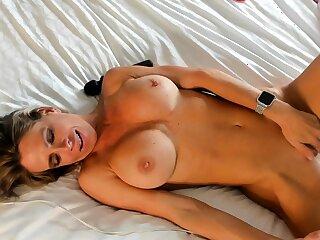 Big boobs milf masturbates with their way dildo