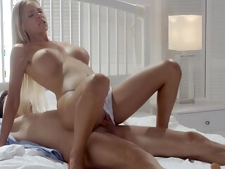 Horny couple in sensual erotic action