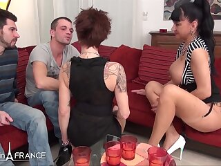 2 thirsty large jugged mature mega-bitch found 2 bastards to get stiff pounded coupled with nutted