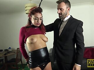 Hot redhead Cat Collar gets affianced and imprecise fucked by a stud