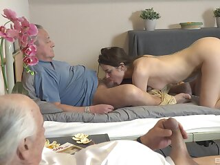 Fat inches for a thirsty meticulousness in old-young XXX tryout
